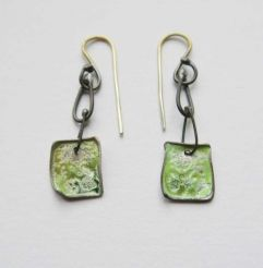 Carmen spring green dangler earrings