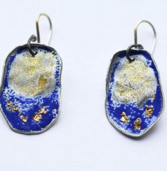 Carmen blue & gold earrings